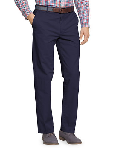 Izod Slim Fit Saltwater Chinos-NAVY-32X30