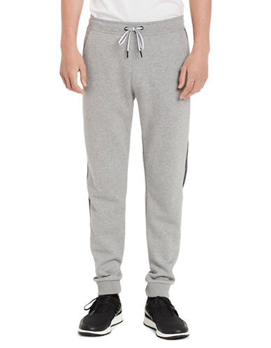 Calvin Klein Logo Cotton Jogger Pants-GREY-Large