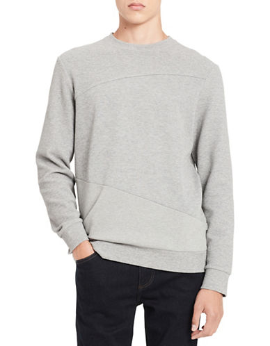 Calvin Klein Pieced Sweatshirt-GREY-Small 89747284_GREY_Small