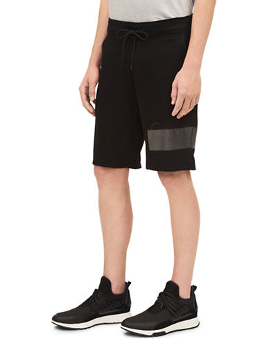 Calvin Klein ID Logo Knit Shorts-BLACK-Large