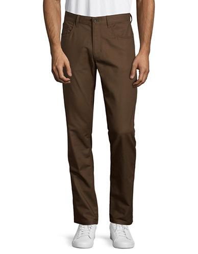 Calvin Klein New Slim-Fit Pants-DARK BROWN-30X32