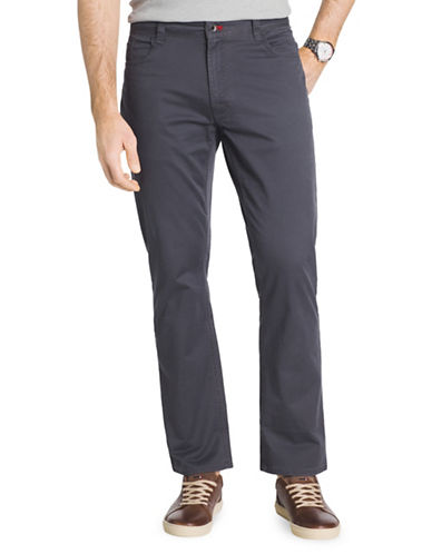 Izod Slim Fit Weekender Stretch Twill Pants-GREY-38X32