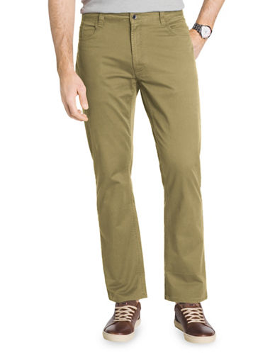 Izod Slim Fit Weekender Stretch Twill Pants-BEIGE-34X32