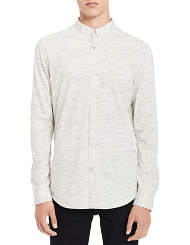 Calvin Klein Slim-Fit Knit Cotton Sportshirt-WHITE-X-Large