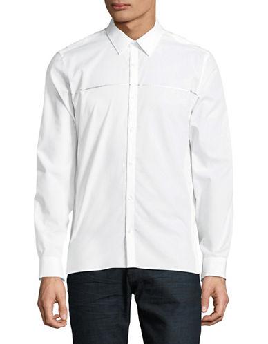 Calvin Klein Classic Cotton Sportshirt-WHITE-Medium