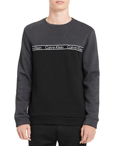Calvin Klein Two-Tone Logo Sweatshirt-GREY-Small 89746746_GREY_Small