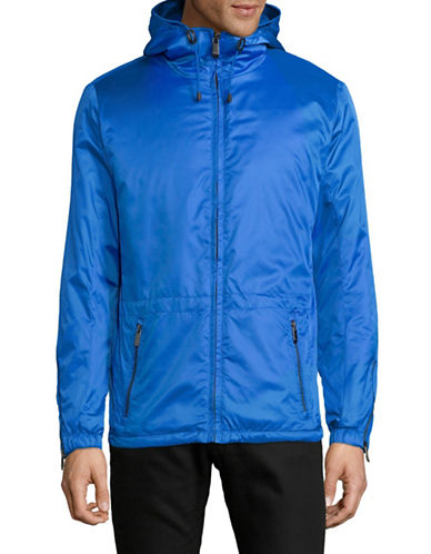 Calvin Klein Lightweight Hooded Jacket-BLUE-X-Large