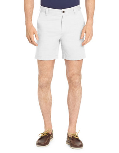 Izod Saltwater Stretch Shorts-WHITE-36