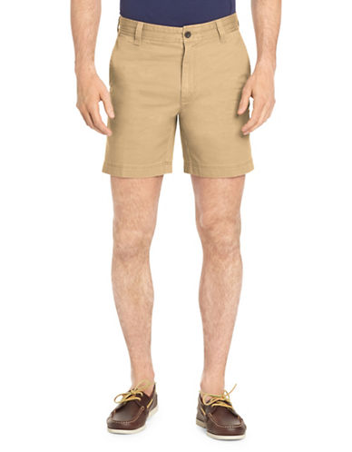 Izod Saltwater Stretch Shorts-BEIGE-42