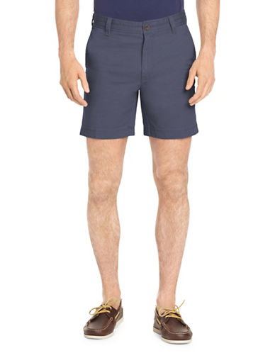 Izod Saltwater Stretch Shorts-BLUE-40