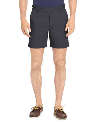 Izod Saltwater Stretch Shorts-NAVY BLUE-30