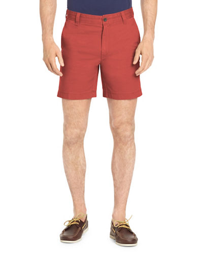 Izod Saltwater Stretch Shorts-RED-30
