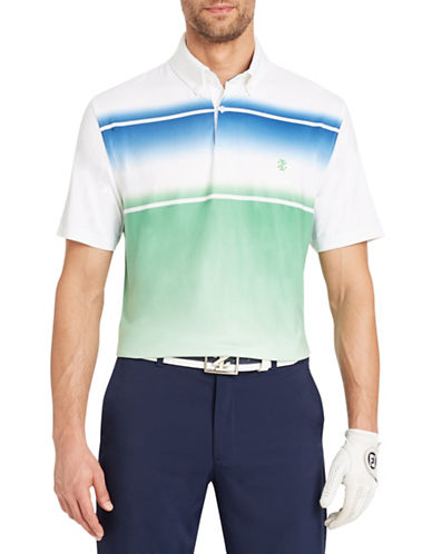 Izod Short-Sleeve Golf Sport Printed Polo-WHITE-XX-Large 90005536_WHITE_XX-Large