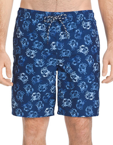 Izod Crab-Print Swim Shorts-BLUE-X-Large 89991843_BLUE_X-Large