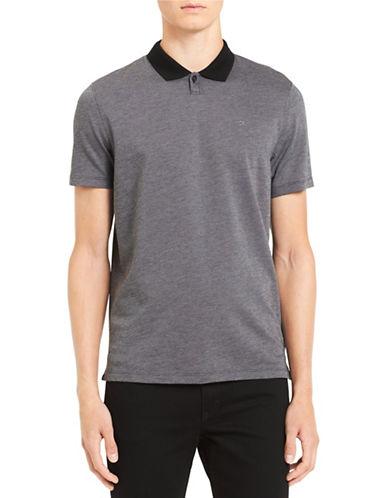 Calvin Klein Slim Jacquard Cotton Polo-BLACK-Medium 89874002_BLACK_Medium
