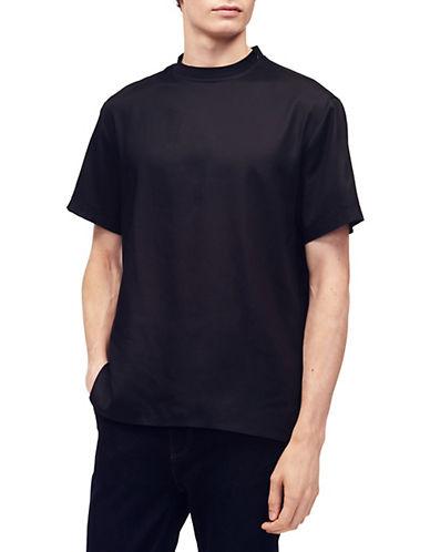 Calvin Klein Dobby T-Shirt-BLACK-X-Large 89910161_BLACK_X-Large