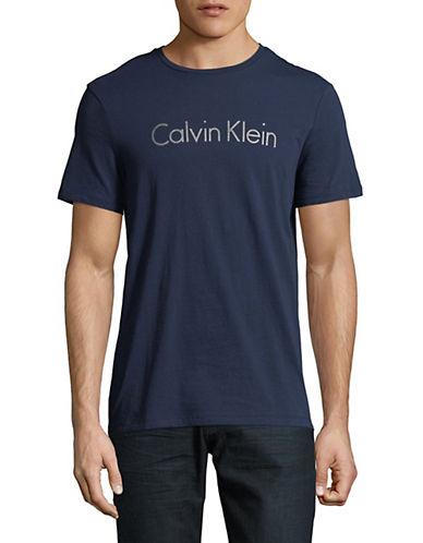 Calvin Klein Crewneck Jersey T-Shirt-BLUE-Small 90059860_BLUE_Small