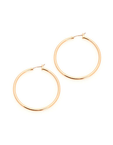Jones New York Large Thin Hinged Hoop-GOLD-One Size