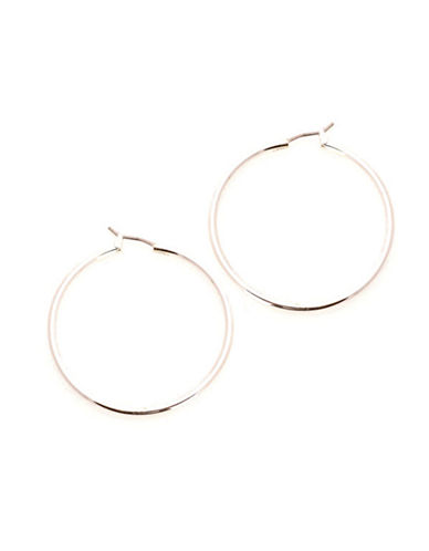 Jones New York Large Thin Hinged Hoop-SILVER-One Size