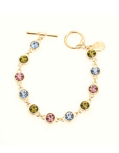 Jones New York Boxed Crystal Tennis Braclet-GOLD-One Size