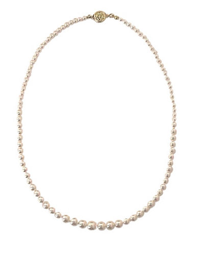 Cezanne Graduated Pearl Necklace-PEARL-One Size