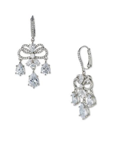Jenny Packham Crystal Chandelier Drop Earrings-SILVER-One Size