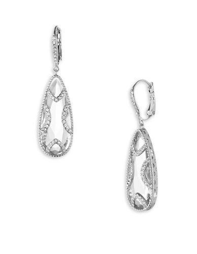 Jenny Packham Crystal Teardrop Stone Earrings-SILVER-One Size