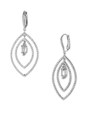 Jenny Packham Crystal Orbital Drop Earrings-SILVER-One Size