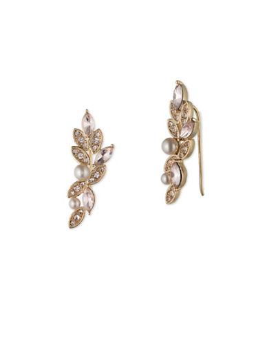 Jenny Packham Crystal Crawler Earrings-GOLD-One Size