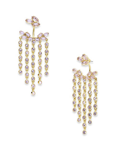 Jenny Packham Crystal Chain Chandelier Earrings-GOLD-One Size