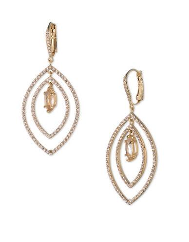 Jenny Packham Crystal Orbital Drop Earrings-GOLD-One Size