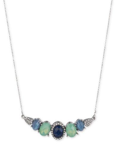 Jenny Packham Two-Tone Stone Crystal Necklace-BLUE-One Size