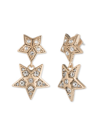 Jenny Packham Double Star Earrings-GOLD-One Size