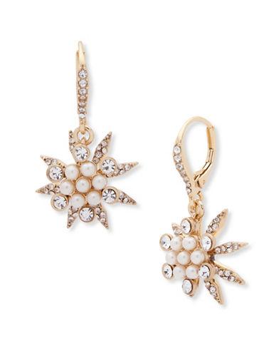 Jenny Packham Starburst Drop Earrings-WHITE-One Size