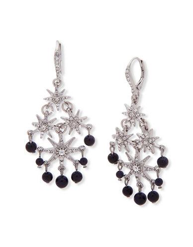 Jenny Packham Crystal Beaded Drop Earrings-BLUE-One Size