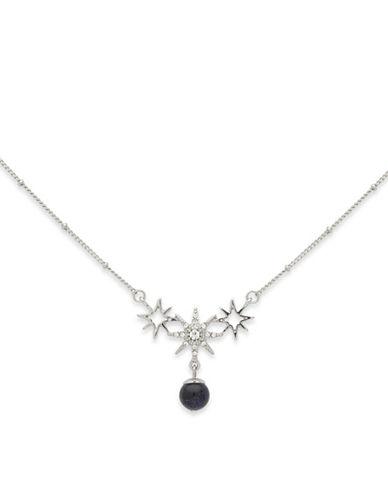 Jenny Packham Star Drop Pendant Necklace-BLUE-One Size