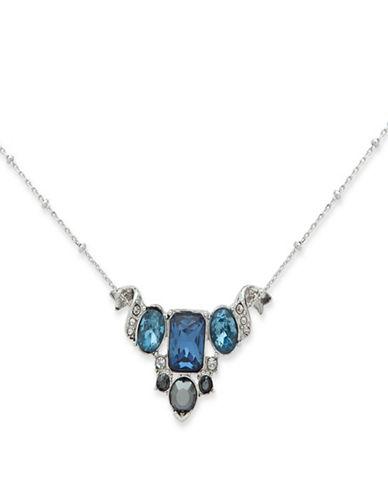 Jenny Packham Cluster Crystal Pendant-BLUE-One Size