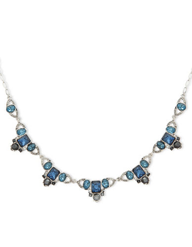 Jenny Packham Pave Frontal Necklace-BLUE-One Size