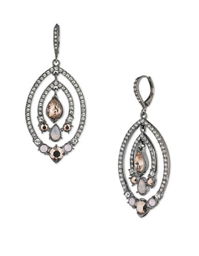 Jenny Packham Multi-Colour Crystal Drop Earrings-MULTI-One Size