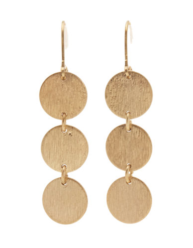 Jones New York Triple Disk Drop Earring-GOLD-One Size
