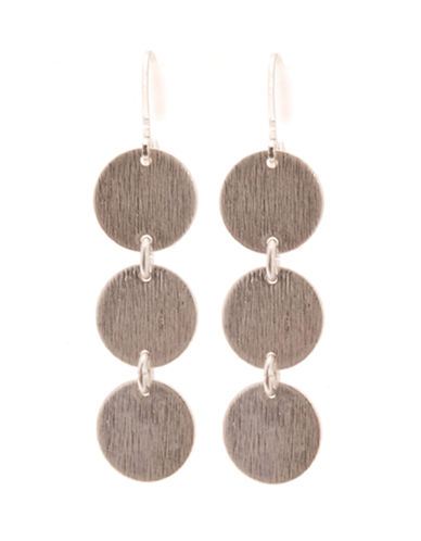 Jones New York Triple Disk Drop Earring-SILVER-One Size