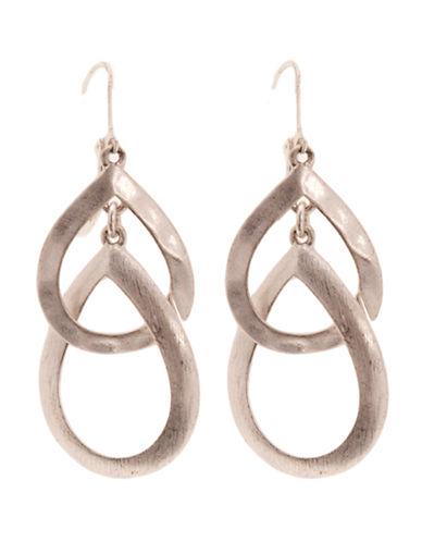 Jones New York Double Teardrop Earring-SILVER-One Size