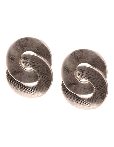 Jones New York Small Eternity Earring-SILVER-One Size