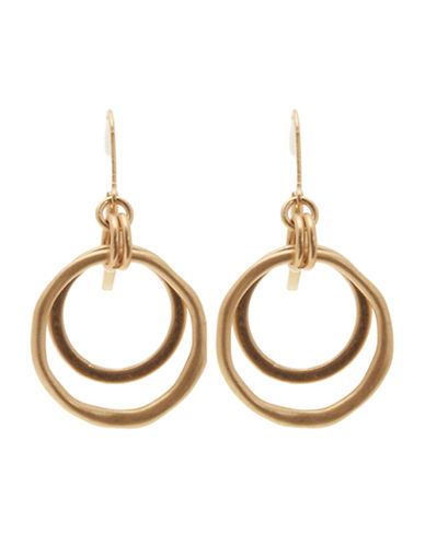 Jones New York Small Orbit Fishook Earring-GOLD-One Size