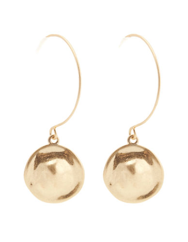 Jones New York Round Drop Fishook Earring-GOLD-One Size