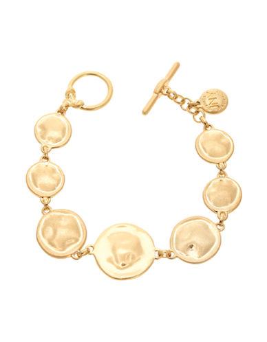 Jones New York Single Row Disk Bracelet-GOLD-One Size
