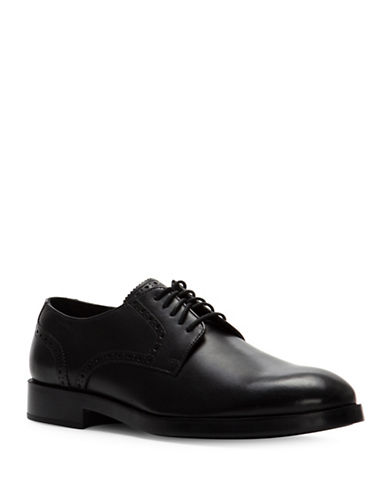 Cole Haan Henry Grand Leather Derby Shoes-BLACK-10.5