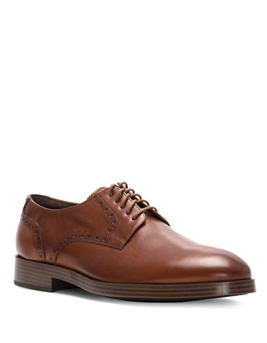 Cole Haan Henry Grand Derby Leather Shoes-BROWN-13