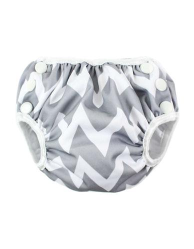 Bumkins Medium Chevron Swim Diaper-GREY-Medium