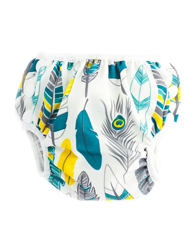 Bumkins Medium Feather Swim Diaper-MULTI-Medium